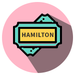 Hamilton Ticket Icon